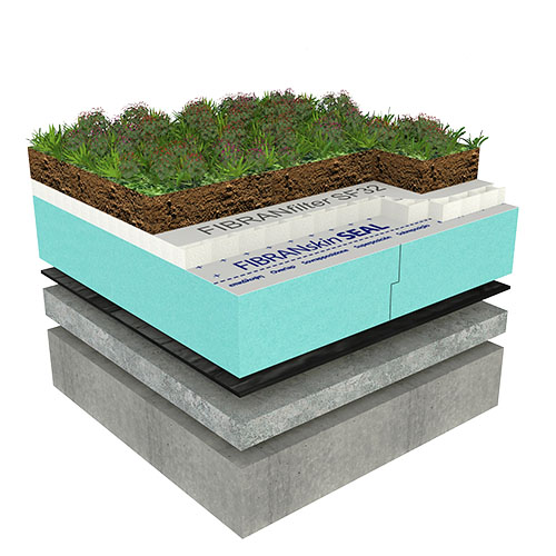 Ozelenjena ekstenzivna ravna streha - CLASSIC